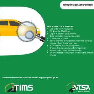 NTSA Motor inspector process