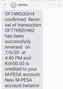 M-Pesa Reversal