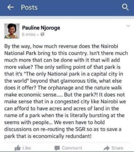 pauline Njoroge Facebook Post