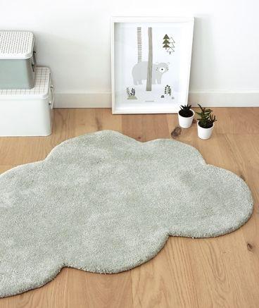 tapis enfant nuage vert de gris lilipinso majoliechambre