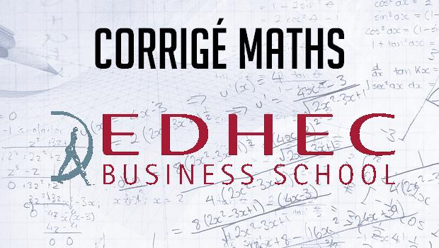 Annales maths EDHEC ECS