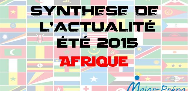 Synthèse de l'actualité de l'été 2015 – Afrique