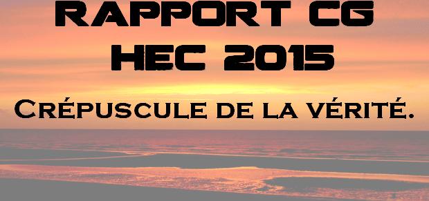 Rapport Culture Générale HEC 2015