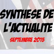 Synthèse de l'actualité  – septembre 2015