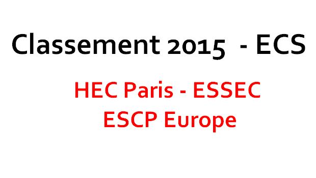 Classement ECS 2015 – TOP 3 : les 20 premières prépas