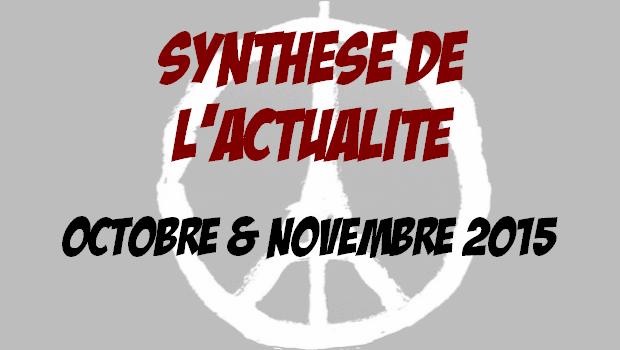 Synthèse d'actualité – Octobre et Novembre 2015