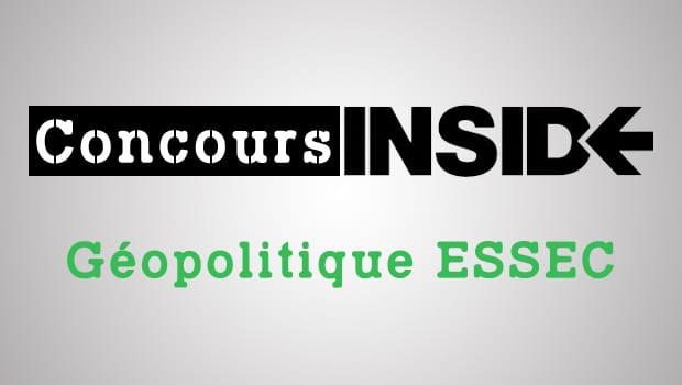 Géopo ESSEC 2017 – Analyse du sujet