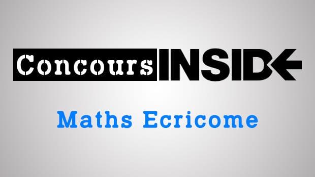 Maths Ecricome ECT 2018 – Sujet