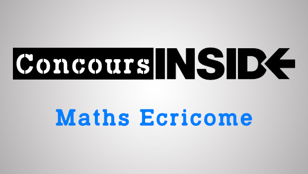 Maths Ecricome ECT 2019 – Sujet