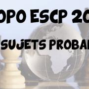 Vos sujets probables en géopo ESCP 2016