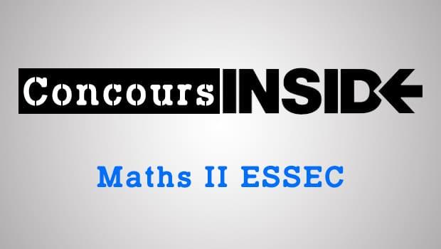 Maths 2 ESSEC 2016- Sujet