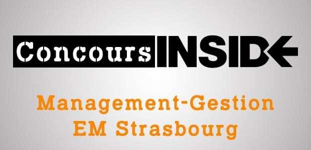 Management-Gestion EM Strasbourg 2016 – Analyse du sujet
