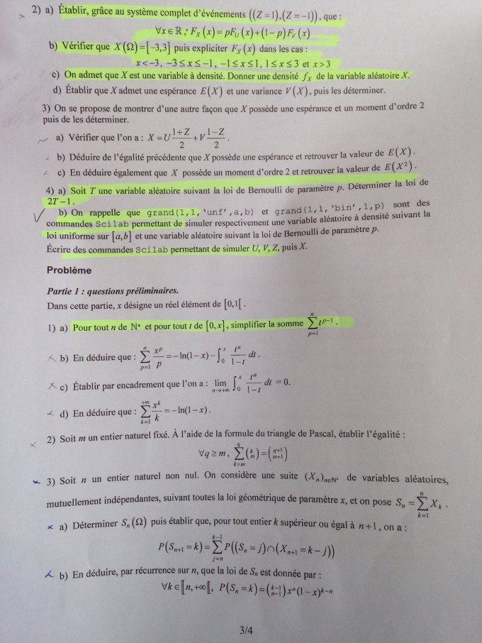 Maths EDHEC 2016 E - Page 3