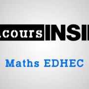 Maths EDHEC 2016 ECS – Sujet