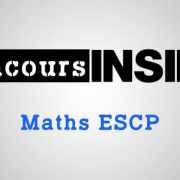 Maths ESCP 2016 – Sujet