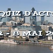 Quiz d'actu : 1er – 8 mai 2016