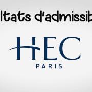 Résultats d'admissibilités HEC 2019