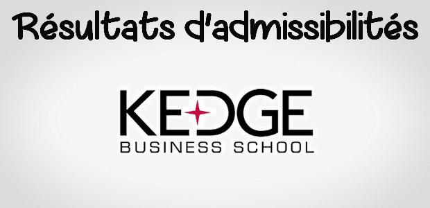 Résultats d'admissibilités KEDGE 2017