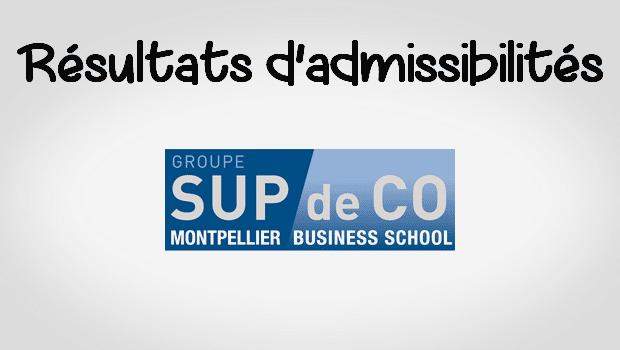 Résultats admissibilités Montpellier BS 2016