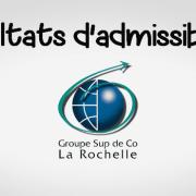 Résultats d'admissibilités La Rochelle BS 2017
