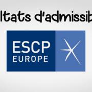 Résultats d'admissibilités ESCP 2018