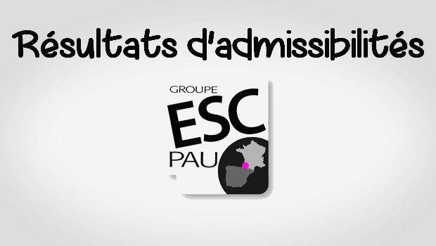 Résultats admissibilités ESC Pau 2016