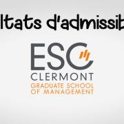 Résultats d'admissibilités ESC Clermont 2019