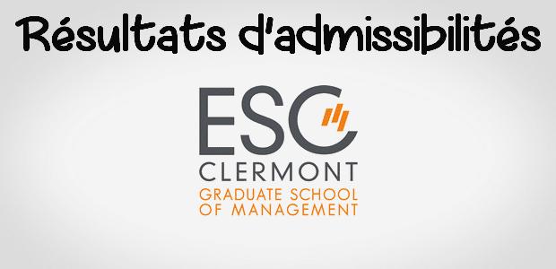 Résultats d'admissibilités ESC Clermont 2018