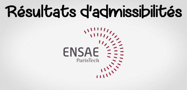 Résultats admissibilités ENSAE 2016