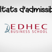 Résultats d'admissibilités EDHEC 2019