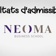Résultats d'admissibilités NEOMA 2019