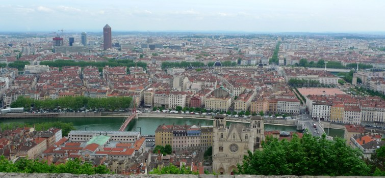Vue de Lyon depuis la basilique !