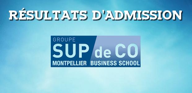 Résultats d'admissions Montpellier BS 2016