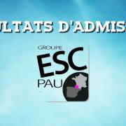 Résultats d'admissions ESC Pau 2016
