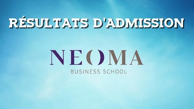 Résultats d'admissions NEOMA 2017