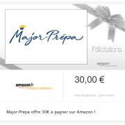 Major-Prépa t'offre 30€ à dépenser sur Amazon !