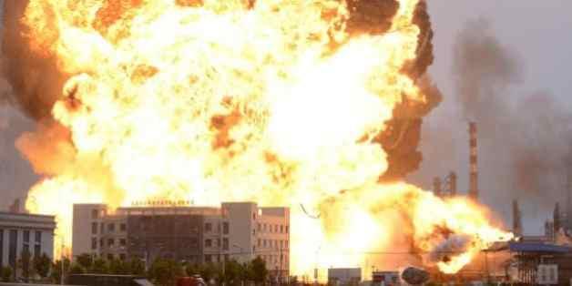 Quelle ville de Chine a été la proie de violentes explosions ce lundi 24 octobre ?