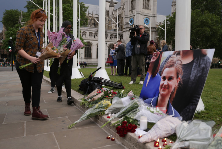 Quel est le nom de l'assassin du député britannique tué le 16 juin dernier qui a été condamné le 23 novembre à la peine à perpétuité ?