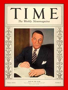 Qui a été désigné personnalité politique de l'année par le Time ?