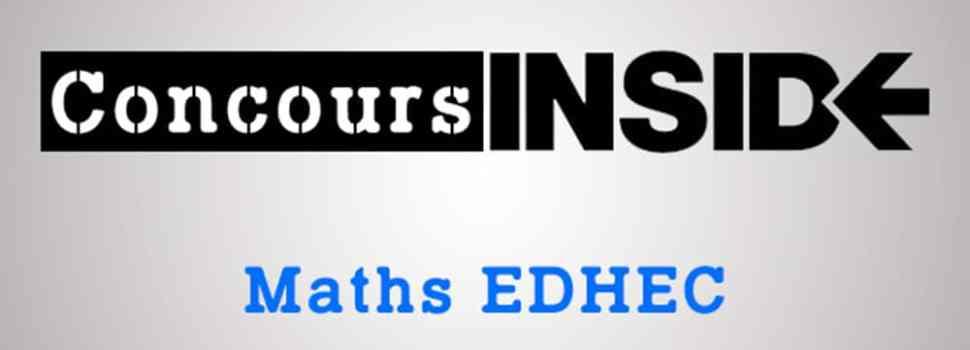 Maths EDHEC