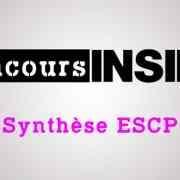 Préparer l'épreuve de synthèse ESCP 2017