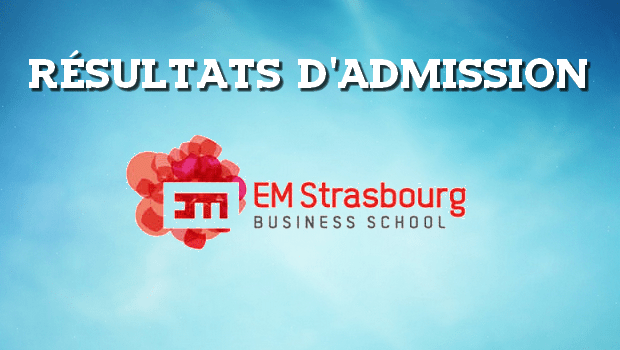 Résultats d'admissions EM Strasbourg 2017