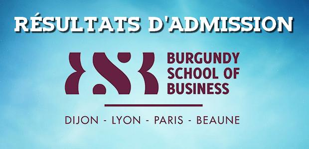 Résultats d'admissions BSB 2017