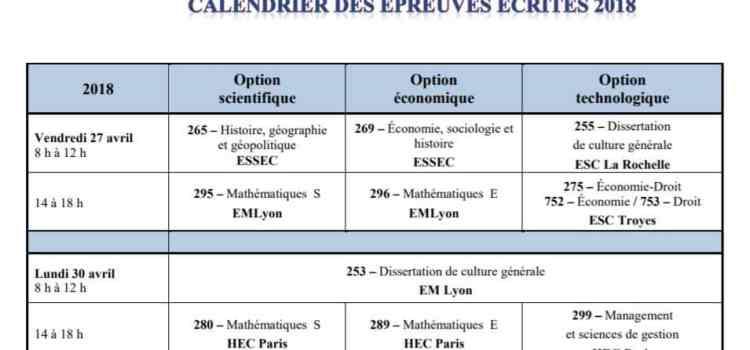 Le Calendrier BCE 2018 est en ligne !