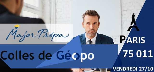 Viens passer une colle de géopolitique avec Major-Prépa !