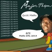 Corrigé Maths emlyon ECS 2013