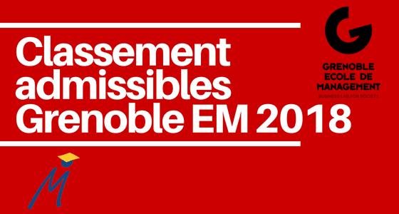 Classement des prépas – Grenoble EM 2018