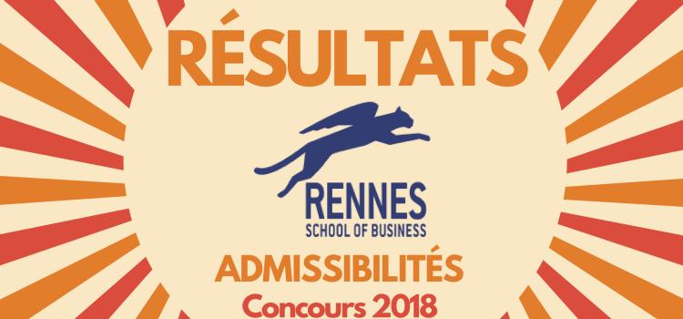 Résultats d'admissibilités Rennes SB 2018