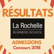 Résultats d'admissions ESC La Rochelle 2018