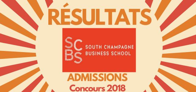 Résultats d'admissions SCBS 2018
